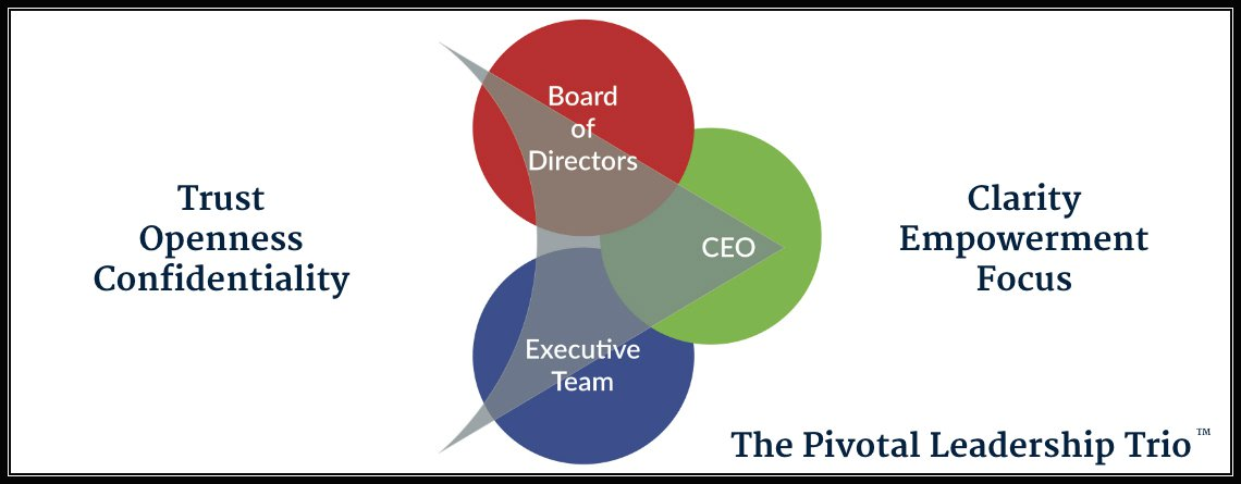 The Pivotal Leadership Trio: Directors, CEO and Executive Team